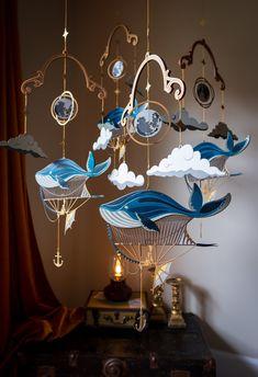 Diy And Crafts, Paper Crafts, Interior And Exterior, Interior Design, Idee Diy, Nursery Room, Bedroom, Decoration, Wind Chimes