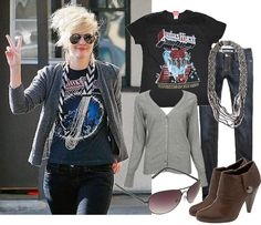 Drew Barrymore's rockin' style