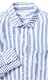 Irish Linen Shirt - Blue Stripe