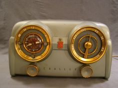 Antique Retro 1953 Crosley OLD Dashboard Style Alarm Clock D 25 GN Tube Radio | eBay
