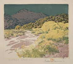 Arroya Chamisa, Gustave Baumann, 1927 Landscape Illustration, Illustration Art, Illustrations, Cleveland Museum Of Art, Abstract Nature, Landscape Paintings, Landscapes, Sketch Painting, Gravure