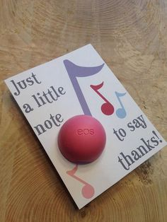 Music teacher appreciation music note thank you cards for #thankyougifts