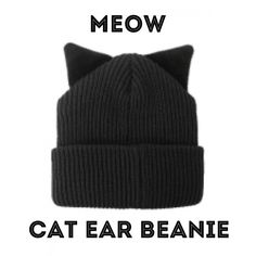 Cat Ear Beanie  Stay warm in style with this super cute cat ear beanie!!! Warm beanie with furry cat ears!!!Black in color and one size fits all!!! NOT NASTY GAL ONLY LISTED FOR EXPOSURE!!! Nasty Gal Accessories Hats