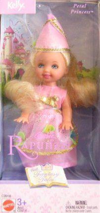 Barbie Rapunzel KELLY PETAL PRINCESS Doll FANTASY TALES Series (2003) by Mattel. $10.00 Barbie Sisters, Barbie Family, Barbie Kelly, Barbie And Ken, Disney Princess Dolls, Princess Rapunzel, Barbie 1990, Cute Baby Dolls, Beautiful Barbie Dolls