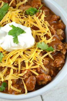 Hearty and Healthy Chicken Chili.....Delicious and Good For You!!!!