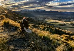 One of the last mornings in New Zealand we drove up into the hills above Queenstown to watch the sunrise and then went for a walk down Skippers Canyon. We sat on the side of this mountain taking pictures and waited for the sun to rise  which takes a little longer due to the surrounding mountains.