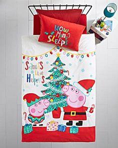 Peppa Pig Noel Single Panel Duvet Set