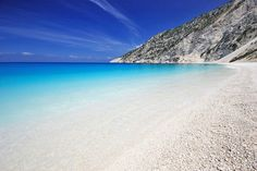 Mirtos beach on the island of Kefalonia, Greece