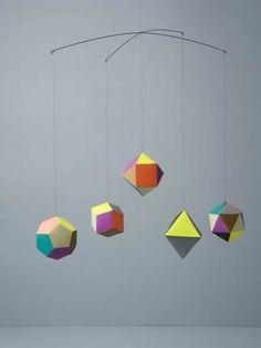 Geometric shapes mobile