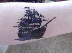 Fake (not mine) tattoo that I hope to get. The black pearl baby.