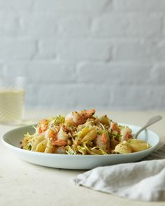 Pasta Shells with Shrimp and Garlicky Bread Crumbs