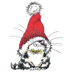 Penny Black 'Jolly Xmas Kitty' Rubber Stamp   Overstock.com Shopping - The Best Deals on Wood Stamps