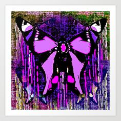 Purple butterfly Tears:Saundramylesart