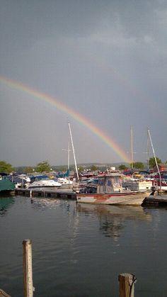 Rainbow down at the Lake, Canandaigua, NY