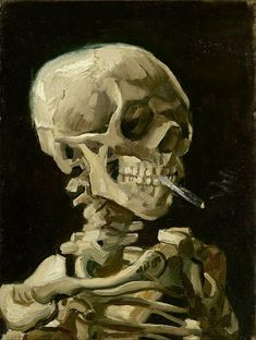 Skull with Cigarette by Vincent Van Gogh
