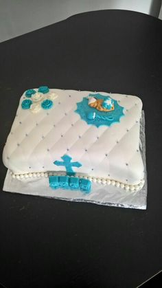 Baptism chocolate cake
