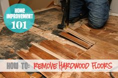 Tired of your old hardwood floors?  Tear them out yourself!  Here are some great tips and shortcuts to tear them up quickly.  www.makeit-loveit.com