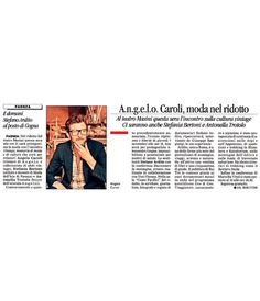 A.N.G.E.L.O. CORPORATE MENTION ON CORRIERE ROMAGNA 06.11.2013 P.32