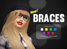 Yummy SIMS 4 CC — Braces! A CC that I planned to make a week ago!...