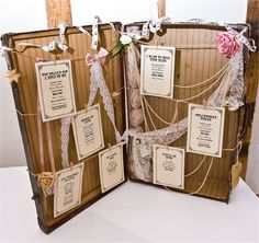 Laura and Rob' real wedding - Suitcase Table Plan