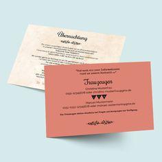 Einleger für die Hochzeit und die Hochzeitseinladung im Retro Romance Desging - do it yourself, online