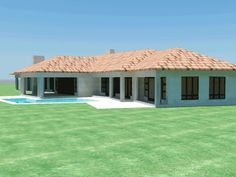 South African House Plans For Sale House Plans For Sale, House Plans With Photos, Dream House Plans, Small Modern House Plans, Beautiful House Plans, Brick House Designs, Single Storey House Plans, House Plans South Africa, Affordable House Plans