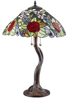 TIFFANY STYLE ROSE TREE TABLE LAMP  - Click image twice for more info - See a larger selection of tiffany table lamps at http://tablelampgallery.com/product-category/tiffany-table-lamps/ - home, home decor, home ideas, lightning, gift ideas, lamp.