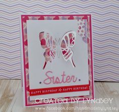 Butterfly pop out card - Simply Creative Flower Girl by design team member Lyndsey