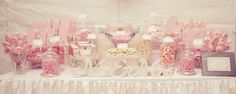 A Vintage Pink Wedding Candy Buffet by Any Occasion Events