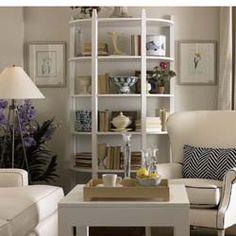 Crawford Demilune Table & Shelf