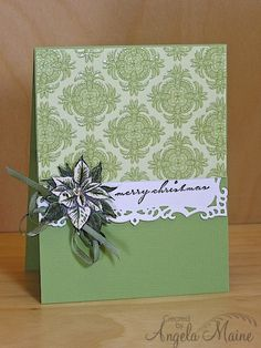 CCC13 August & SCSCCMAR13 Monochromatic Greens by Arizona Maine - Cards and Paper Crafts at Splitcoaststampers
