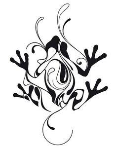 Frog Tattoo Designs for Women Dragon Tattoo For Women, Dragon Tattoo Designs, Tattoo Designs For Women, Tattoos For Women, Abstract Tattoo Designs, Abstract Tattoos, Frog Tattoos, Body Art Tattoos, New Tattoos