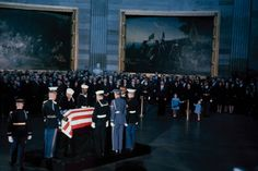 Not originally published in LIFE. John F. Kennedy's flag-draped casket lies in state in Washington, D.C., November 1963