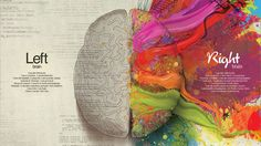 This is such a neat visual of the difference between Left and Right brain. Unfortunately my left and right brain don't speak. Brain Painting, Left Brain Right Brain, Mercedes Benz, Image Blog, Web Design, Print Design, Logo Design, Letterhead Design, Design Blog