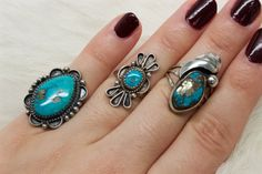 This listing is for one ring of your choice; please choose from the drop down menu to purchase.  ♥ Ring 1 - A vintage sterling silver ring