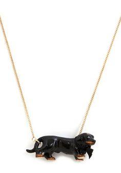 Dachshund My Love Necklace, #ModCloth
