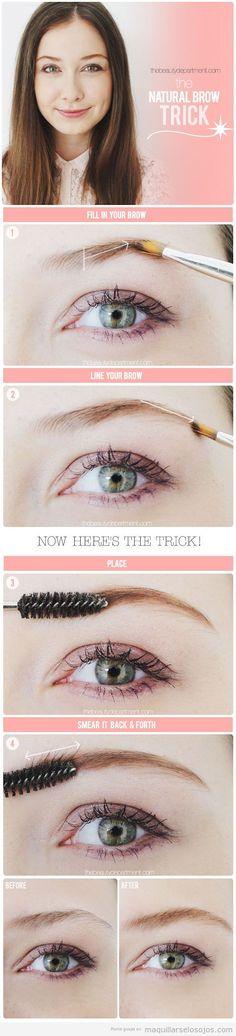 Tutorial para aprender a arreglar y maquillar las cejas