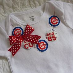 Chicago Cubs MLB  Necklace Onesie or Shirt by ThisPretty on Etsy, $22.95