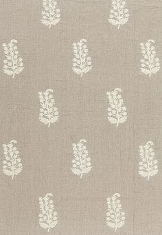 Charleroi Paisley Embroidery in Linen from Schumacher Fabrics