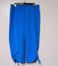 ADDITIONS by CHICO'S Size 3 Blue Casual Capri Cropped Pants Elastic Waist