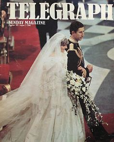 July Lady Diana Spencer marries Prince Charles at St. Telegraph Magazine 1981 - the wedding of Prince Charles and Princess Diana Charles And Diana Wedding, Princess Diana And Charles, Princess Diana Wedding, Princess Diana Family, Princess Of Wales, Diana Son, Lady Diana Spencer, Royal Brides, Royal Weddings