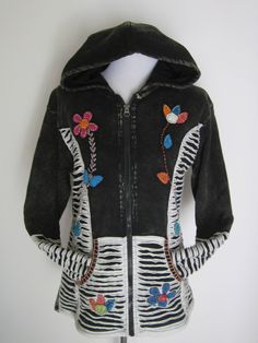 PIXIE HOODED ~ Awesome Warm Fleeced Lined Jacket! by isoleynz on Etsy