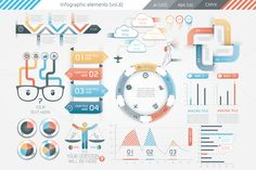 Posted by @newkoko2020 Infographic Elements (v6) by Infographic Paradise on @creativemarket