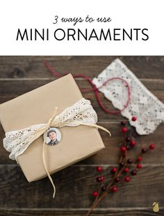 Our mini ornaments are just perfect for little displays of holiday cheer. See 3 ways to use these little keepsakes! #GiftIdeas #Ornaments