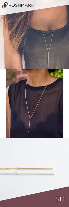 ❤️❤️elegant gold or silver plated bar necklace Pick any additional jewelry for just $5 more! Jewelry Necklaces