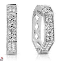 Ebay NissoniJewelry presents - Ladies' 1/2CT Diamond Earrings 14K White Gold    Model Number:E7414H_W477    http://www.ebay.com/itm/Ladies-1-2CT-Diamond-Earrings-14K-White-Gold/221630376537
