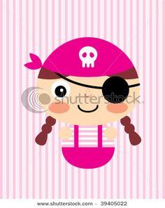 Girly pirate illustration