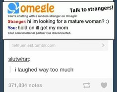 How I would act on omegle.