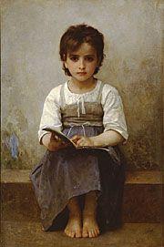 """William Adolphe Bougureau, """"The Difficult Lesson,"""" 1884."""