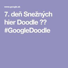 7. deň Snežných hier Doodle ❄️ #GoogleDoodle